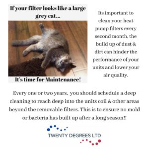 It's a simple 10 minute cleaning that your heat pump will forever be grateful for.. it allows for your air to be cleaner, your units to operate smoother & might save you an unnecessary service call if it starts to act weird.. Make sure to always check your filter!!